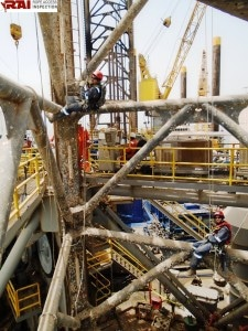Rig remedial, Offshore Rope Access.
